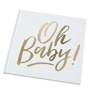 Oh Baby, Baby Shower Book - Gold