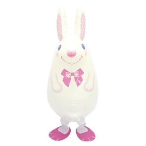 White Rabbit Foil Balloon Walking Pet, 24 inch, 60 cms