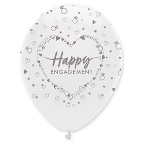 "11"" Latex Balloon all round print - Happy Engagement"