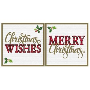 Christmas Cards, 2 designs, Pack of 12, 14cms x 14cms, with envelopes