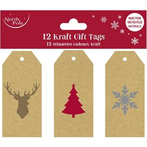 Kraft Gift Tags, Pack of 12